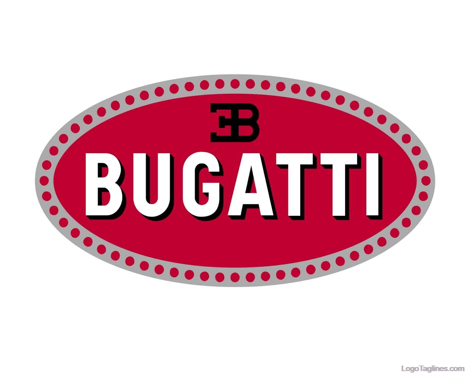 bugatti automobiles logo  tagline