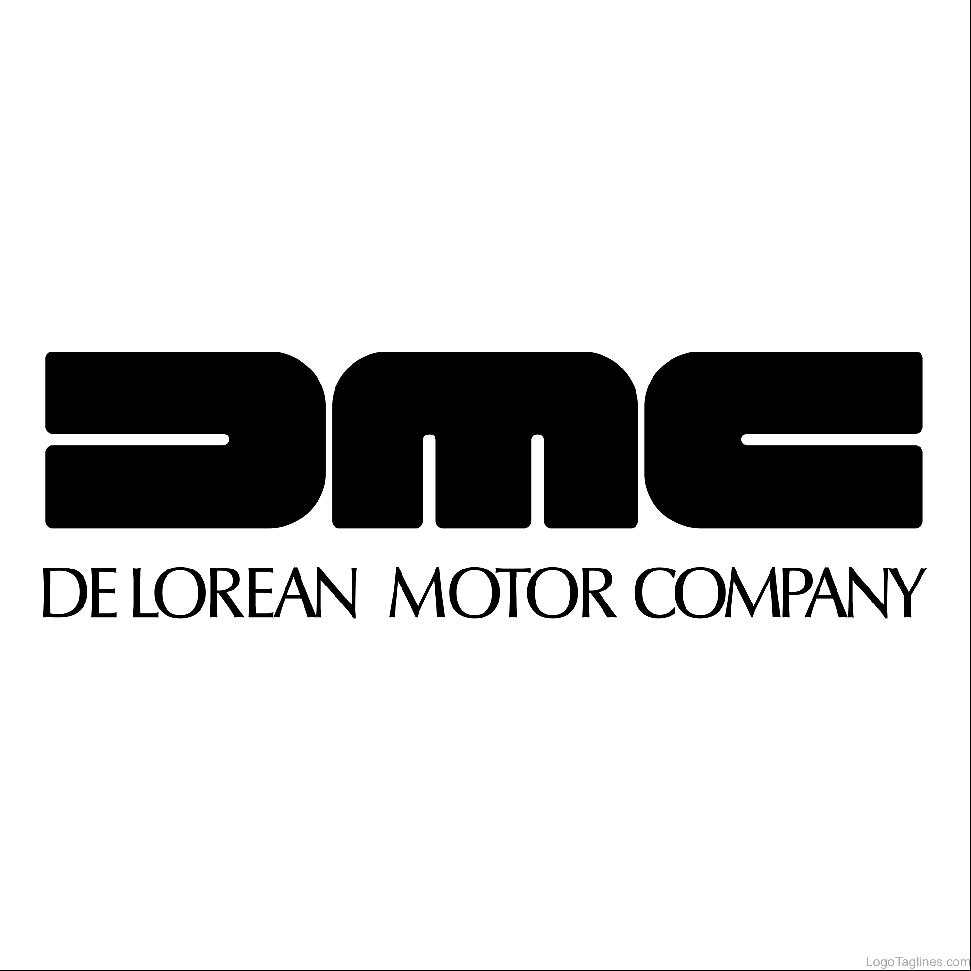 All Cars Logos And Names >> The DeLorean Motor Company- DMC Logo and Tagline